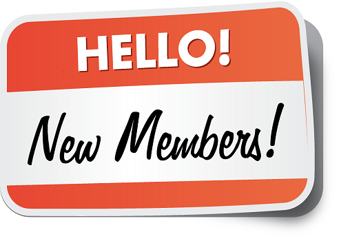 Welcome to our newest members
